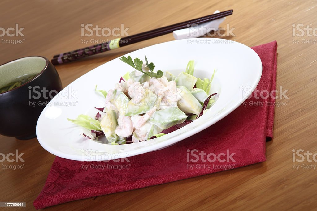 ebi and avocado royalty-free stock photo