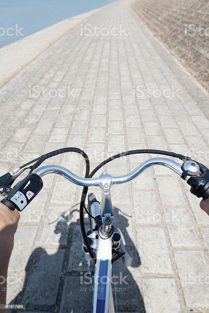 E-bike ride stock photo