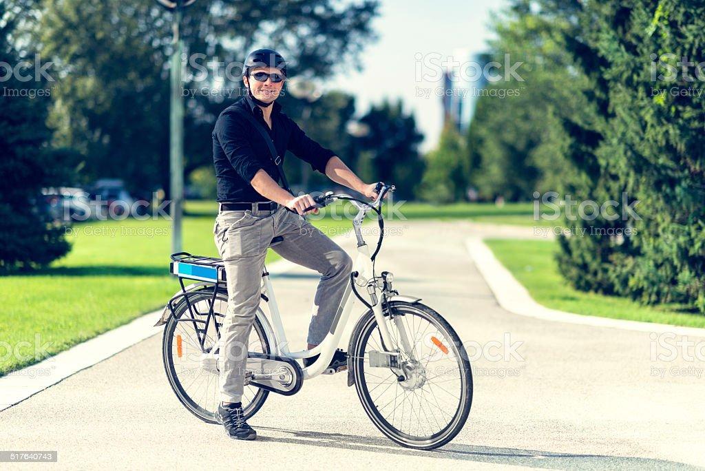 E-biker stock photo