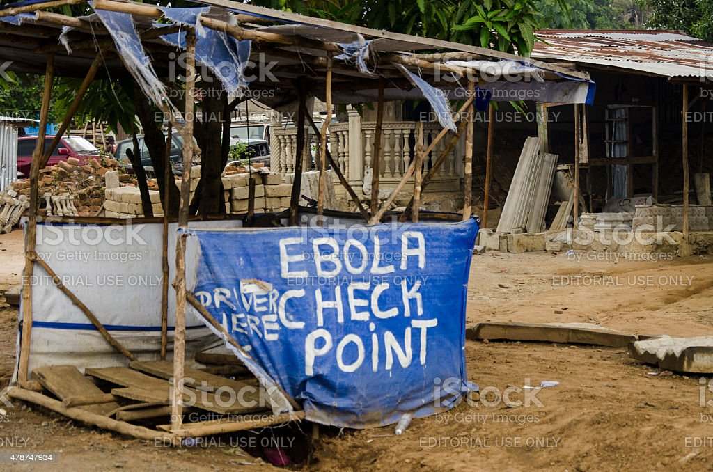 Ebola Check Point stock photo