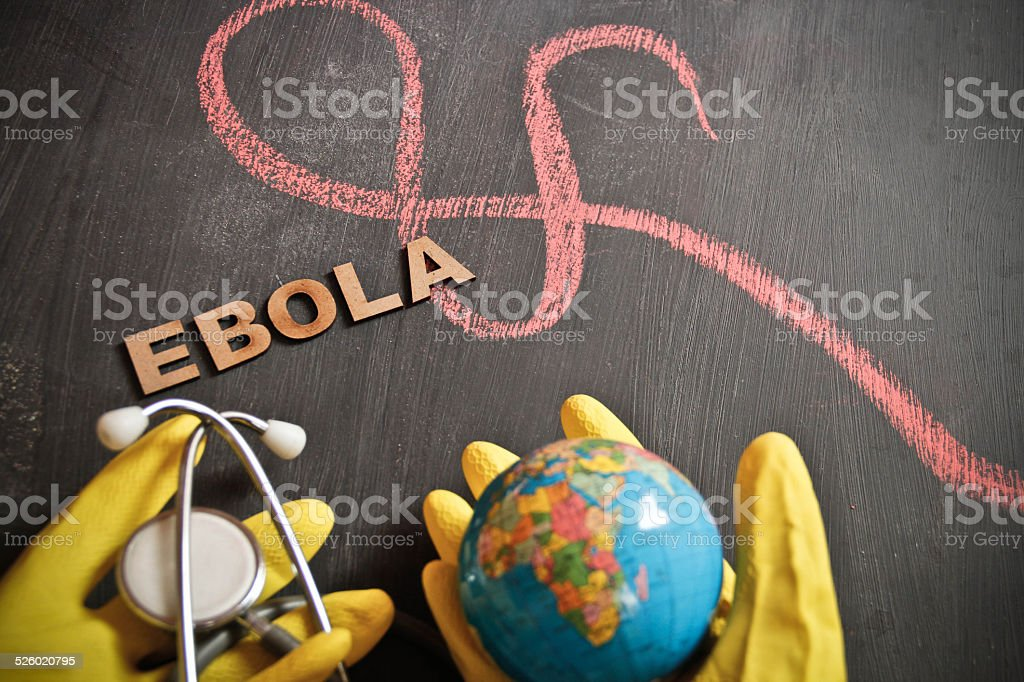 Ebola symptoms and care stock photo