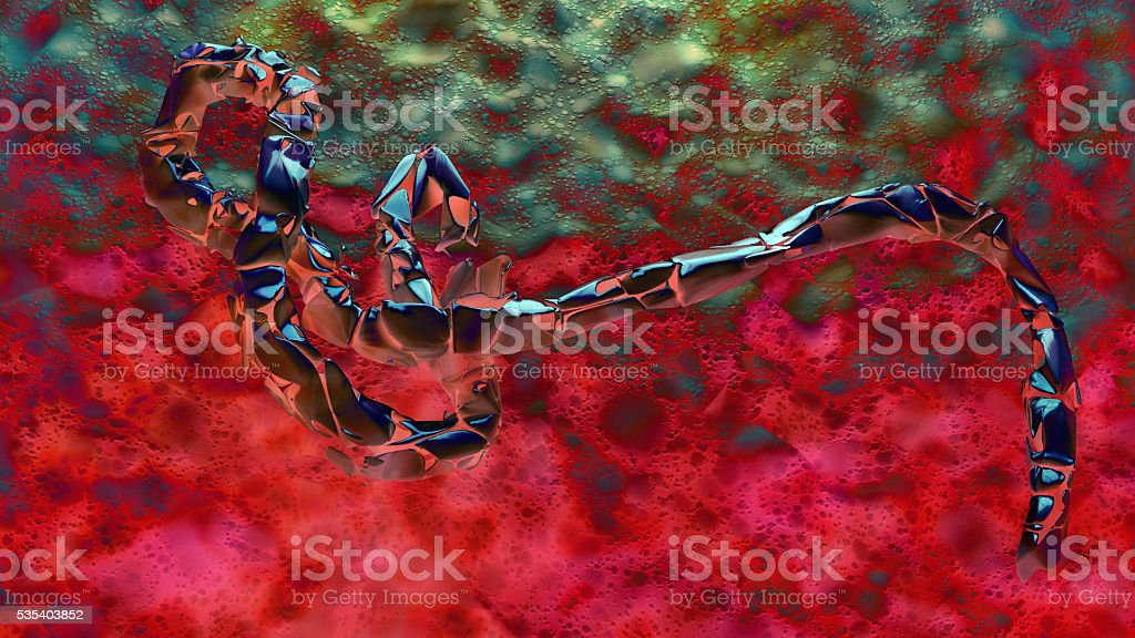 Ebola Virus in the blood. stock photo