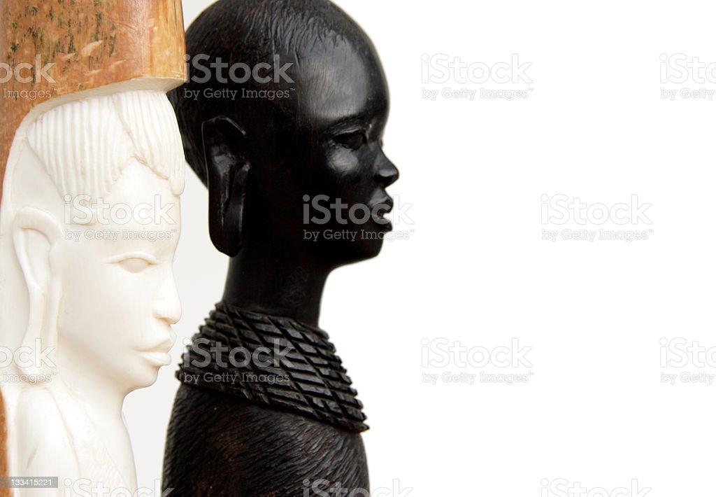Ebony and Ivory royalty-free stock photo