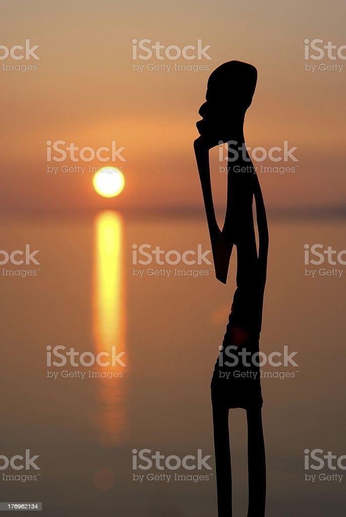 Ebony sunset man 2 stock photo