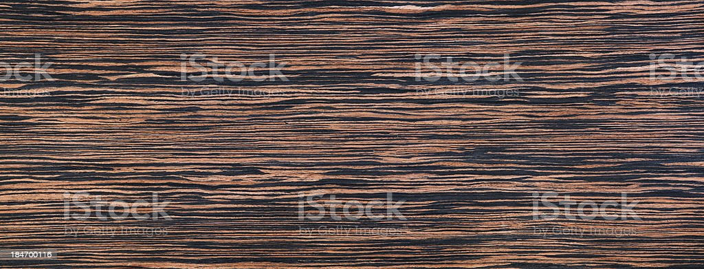Ebony wood - textured material, fibers stock photo