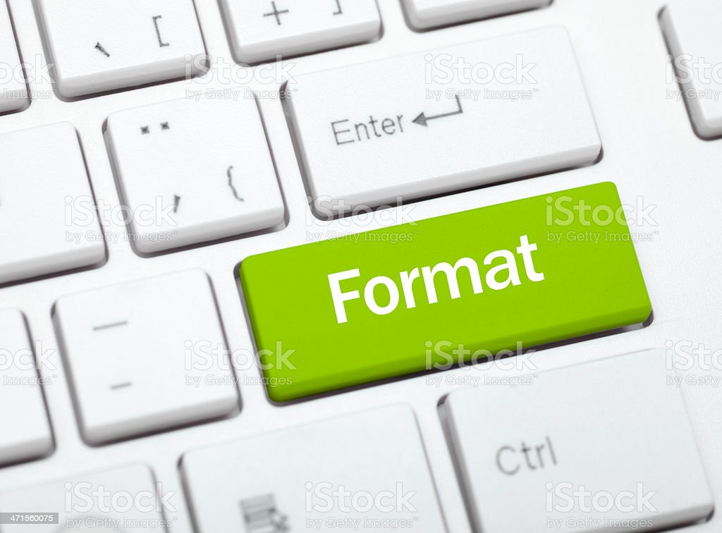 E-book formatting concept stock photo