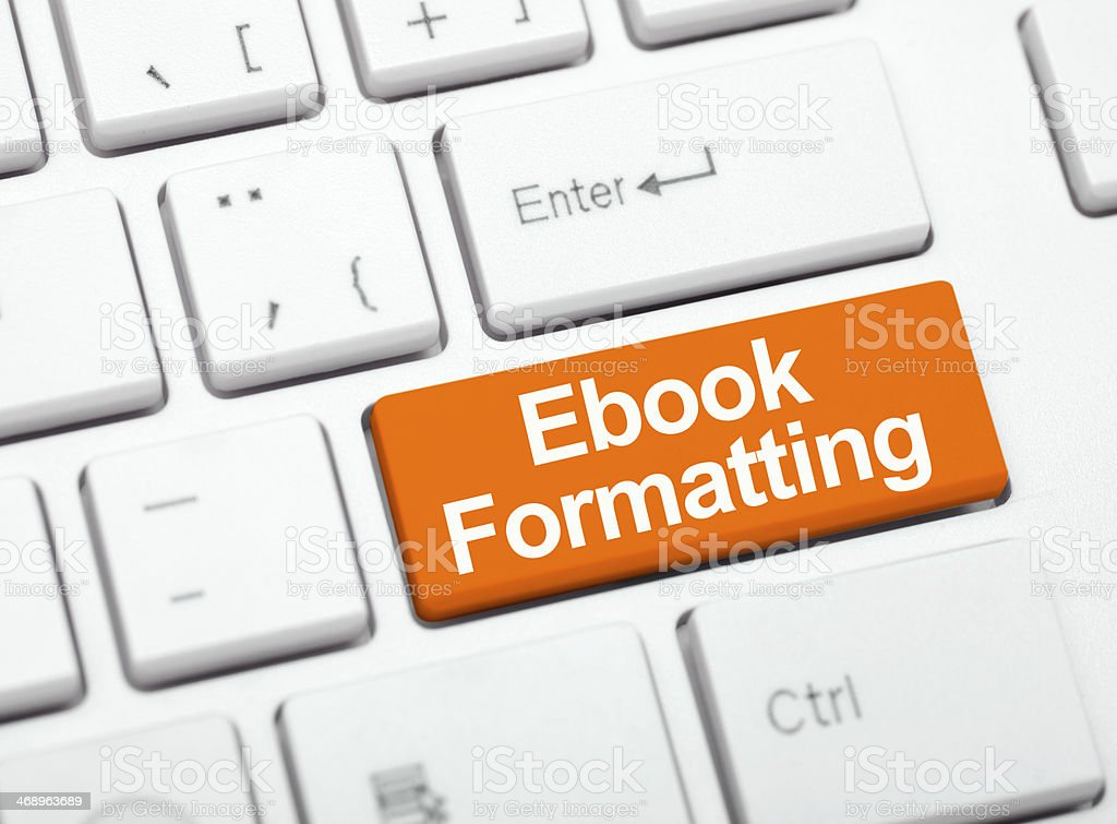 Ebook formatting services stock photo