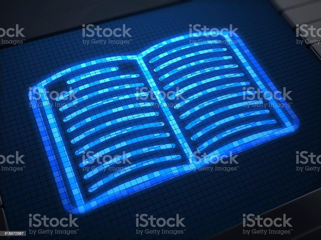 Ebook on digital screen stock photo