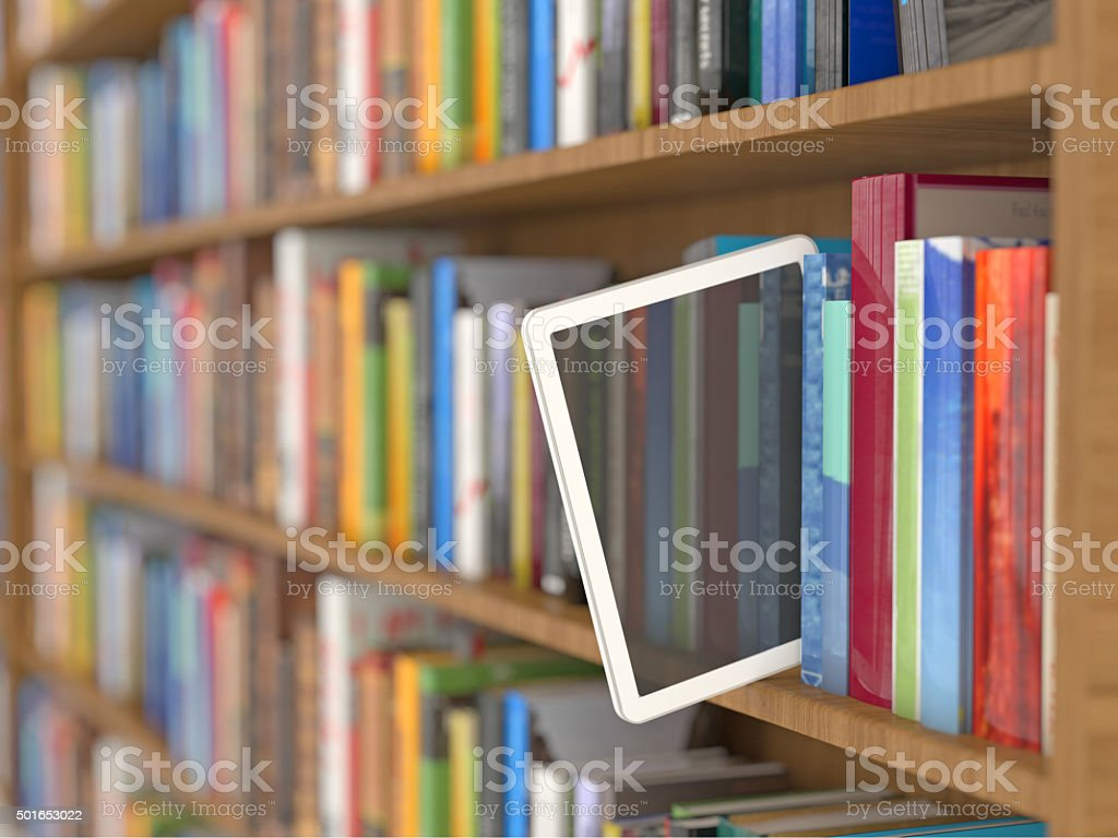 E-book reader concept stock photo