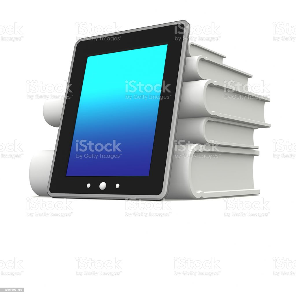 E-Book reading and information royalty-free stock photo