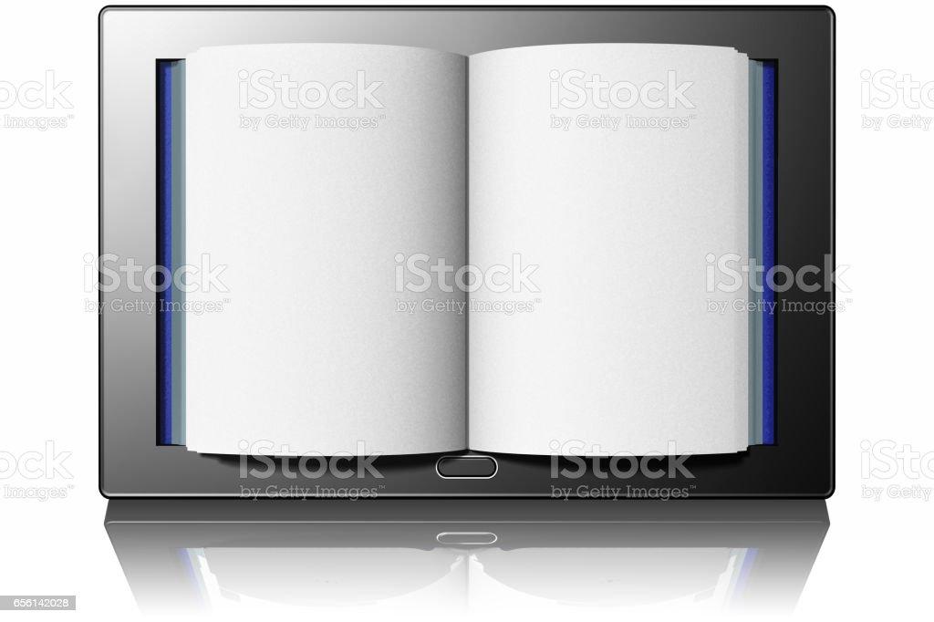 E-book Tablet Libro Testo 002 stock photo
