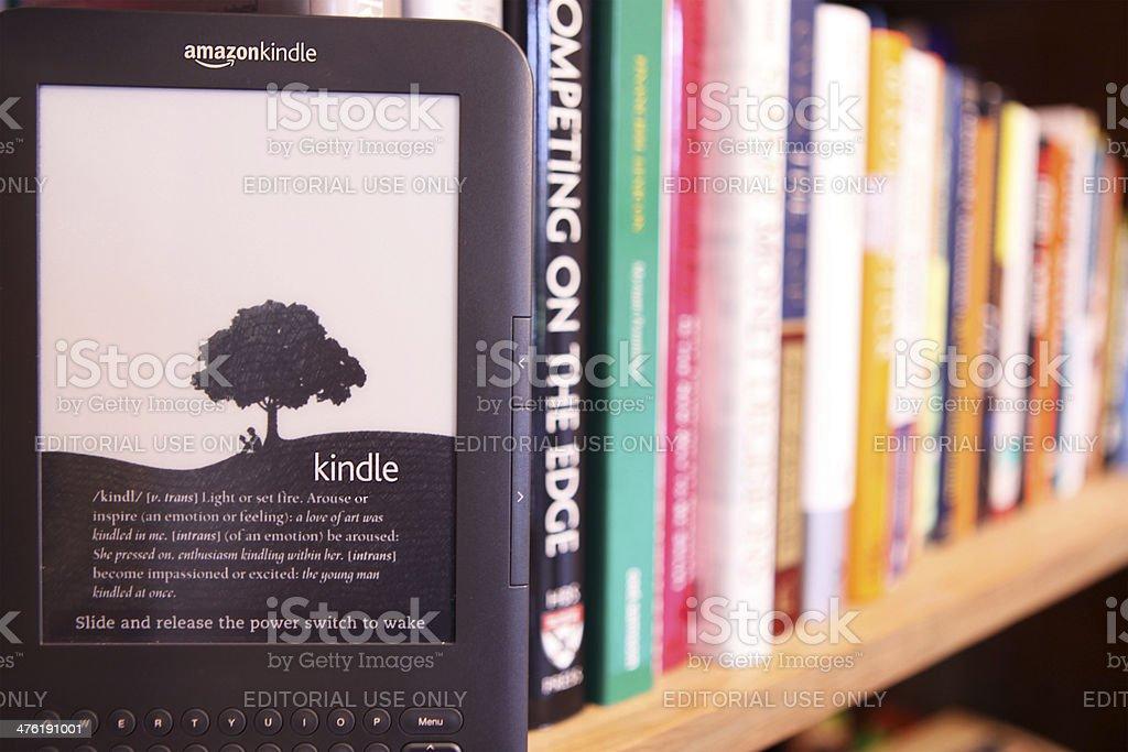 E-Book vs. Paper Book royalty-free stock photo