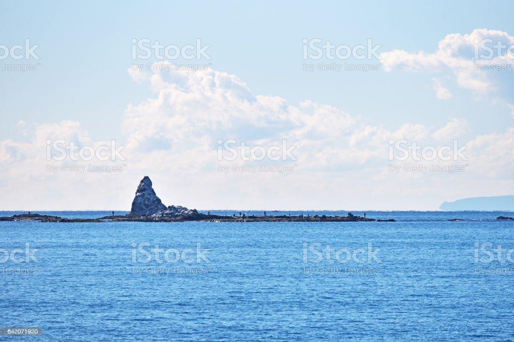 Eboshi-iwa stock photo
