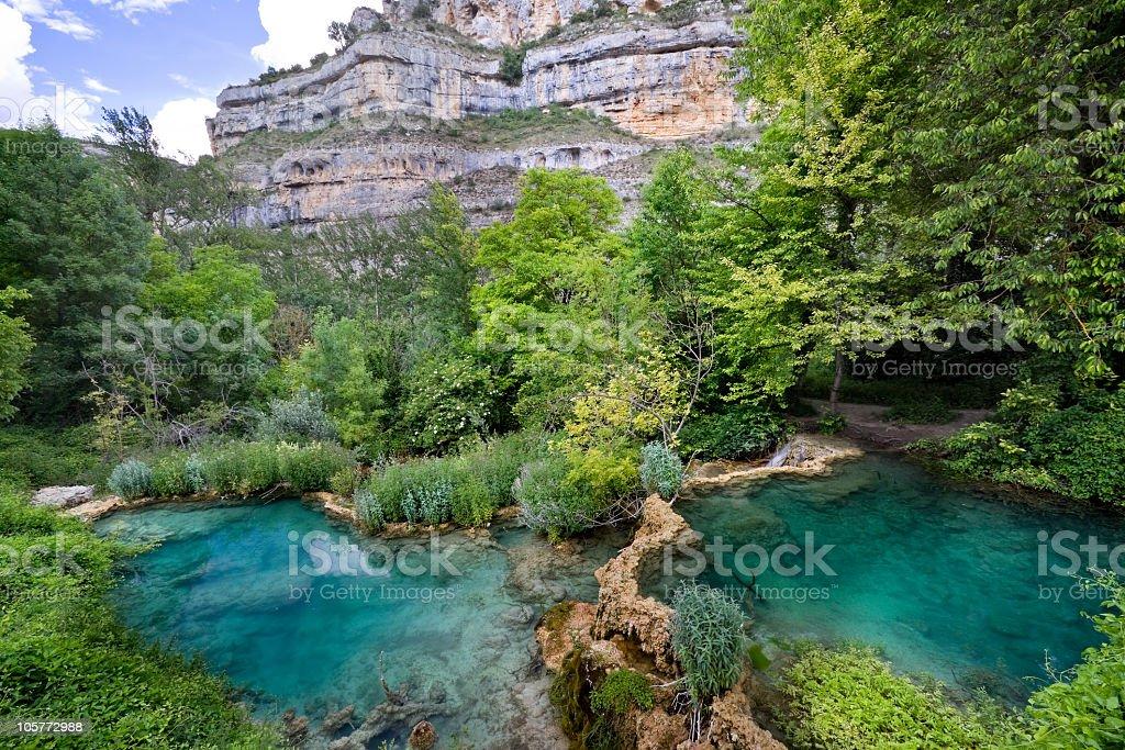 Ebro river canyon stock photo