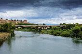 Ebro river, near San Vicente de Sonsierra, La Rioja. Spain