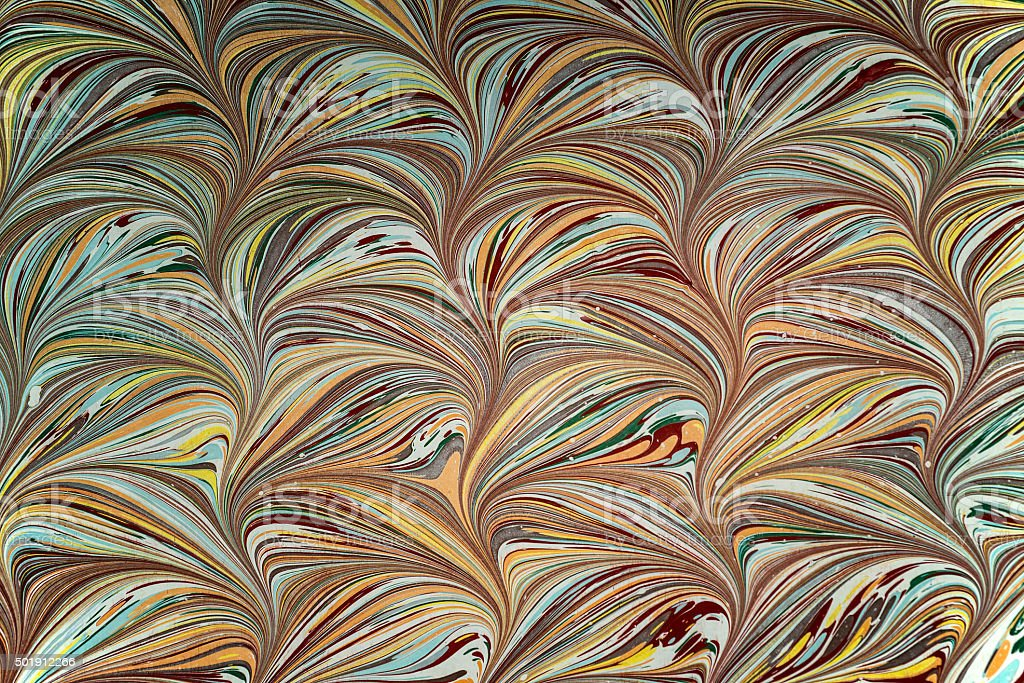 Ebru art. Traditional Turkish Ebru technique. stock photo
