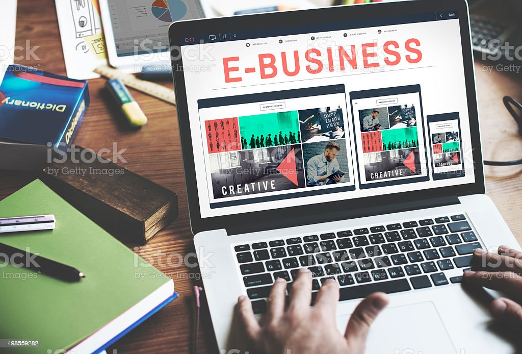 E-business E-commrce Business Responsive Design Concept stock photo