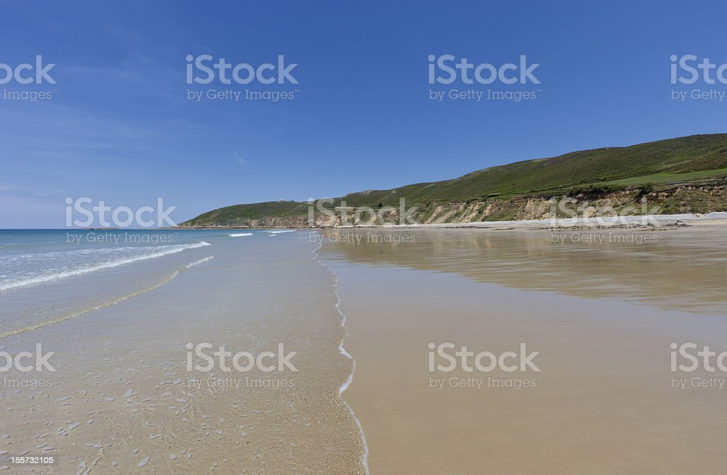 Ecalgrain Beach at Cap de la Hague royalty-free stock photo