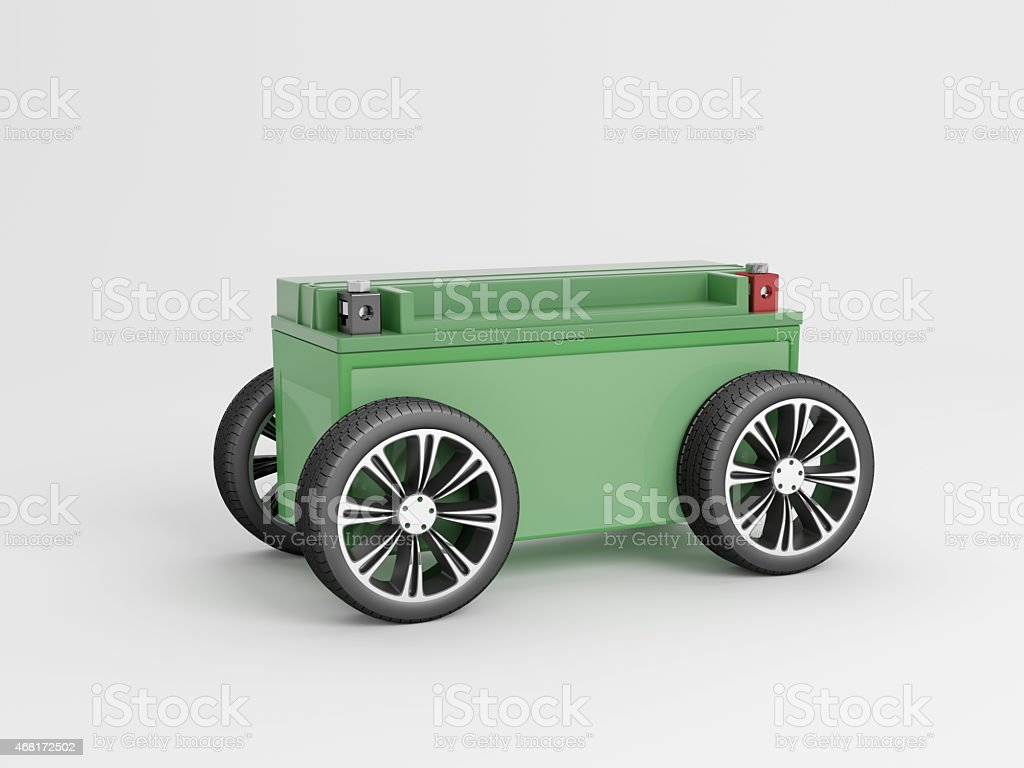 eCar Green sideview stock photo