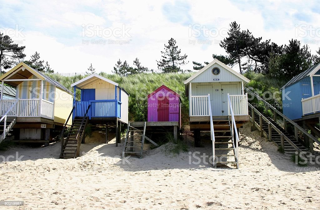 Eccentric beach fronts royalty-free stock photo