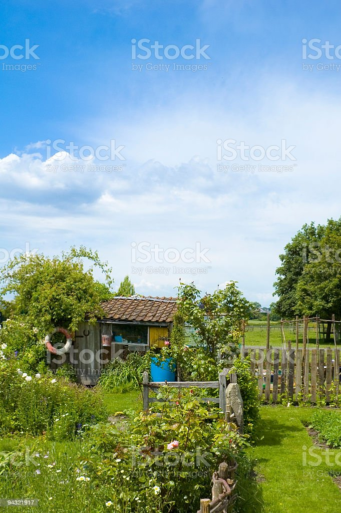 Eccentric hut in garden royalty-free stock photo