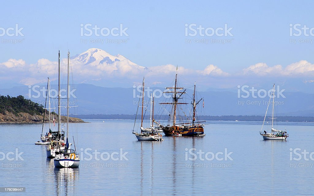 Echo Bay Pirate Ship stock photo