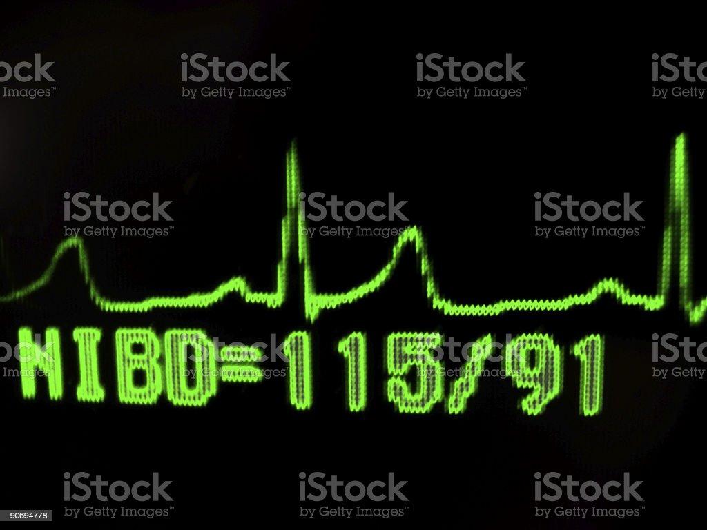 echo cardio gram royalty-free stock photo