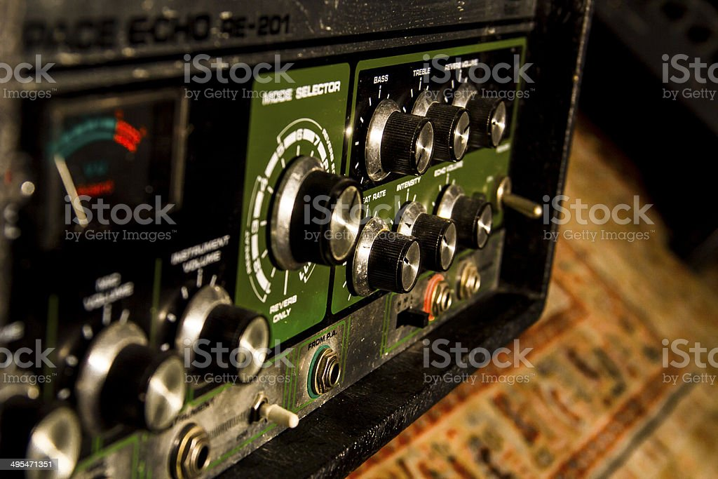 Echo Machine stock photo