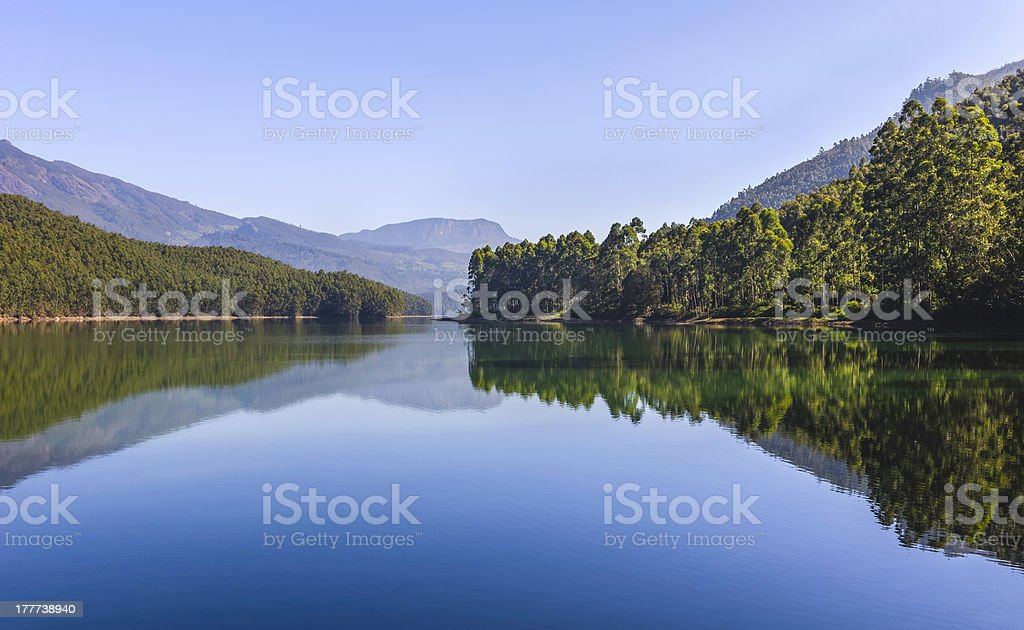 Echo Point, a lake in Munnar, Kerala, India. royalty-free stock photo