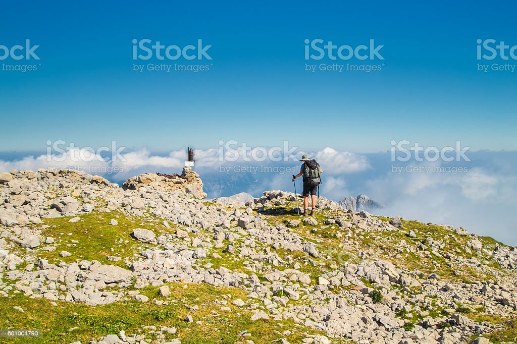 Echoes of world war one at Alpe mountains, Slovenia stock photo