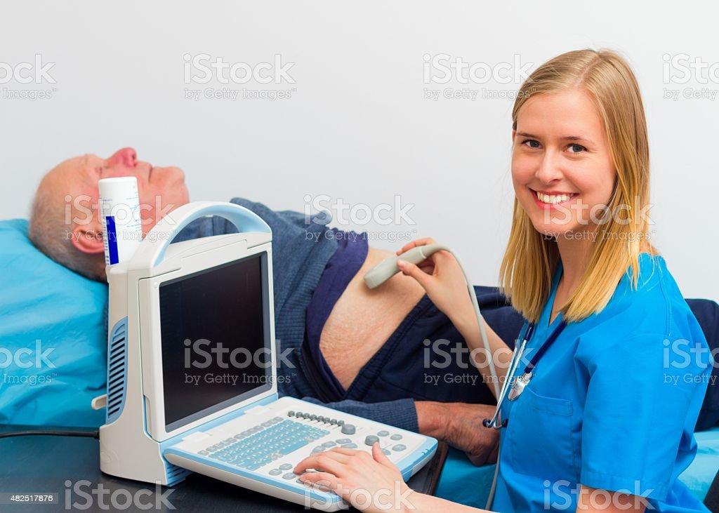 Echography Examination stock photo