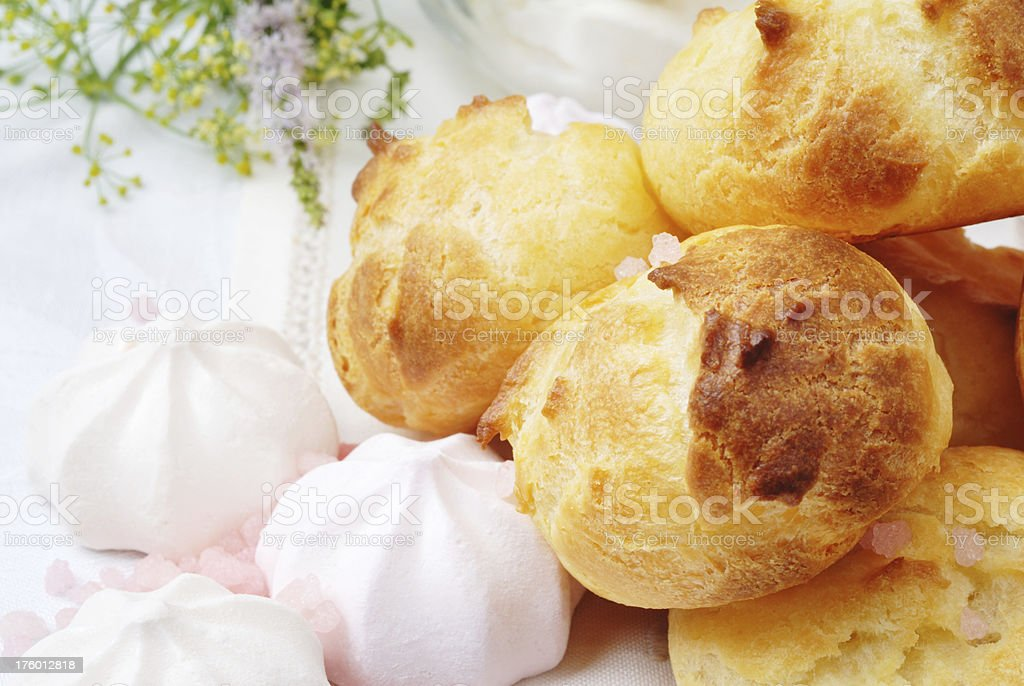 eclairs and merengue royalty-free stock photo