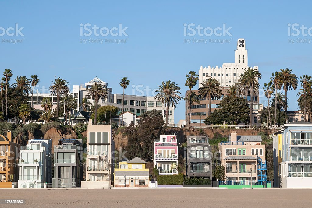 Eclectic California Beach Homes stock photo