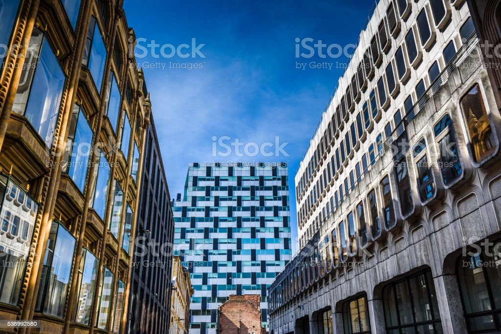 Eclectic City Architecture. stock photo
