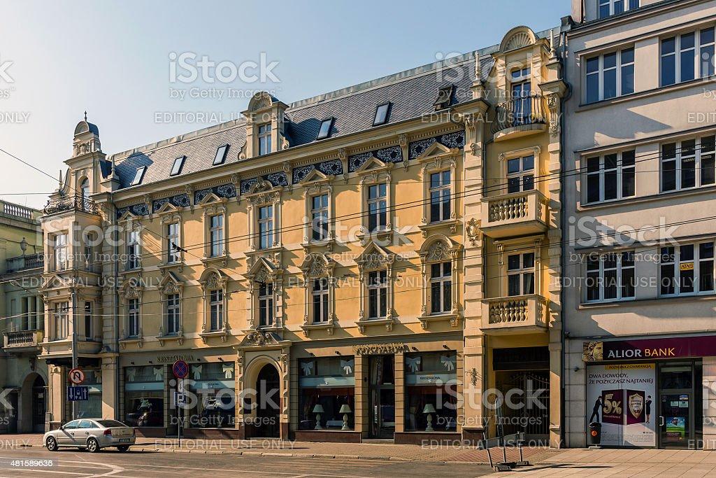 Eclectic tenement stock photo