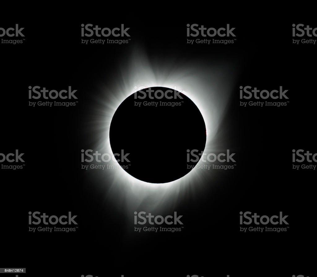 Eclipse 2017 stock photo