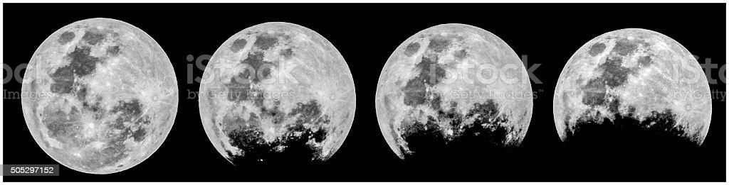 Eclipse lunaire photo libre de droits