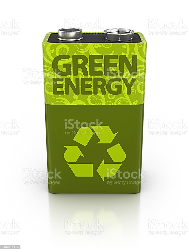 eco battery stock photo