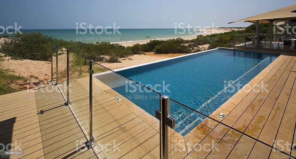 Eco Beach Resort stock photo