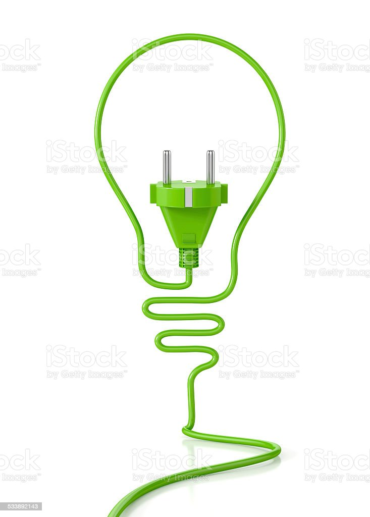 Eco bulb concept stock photo