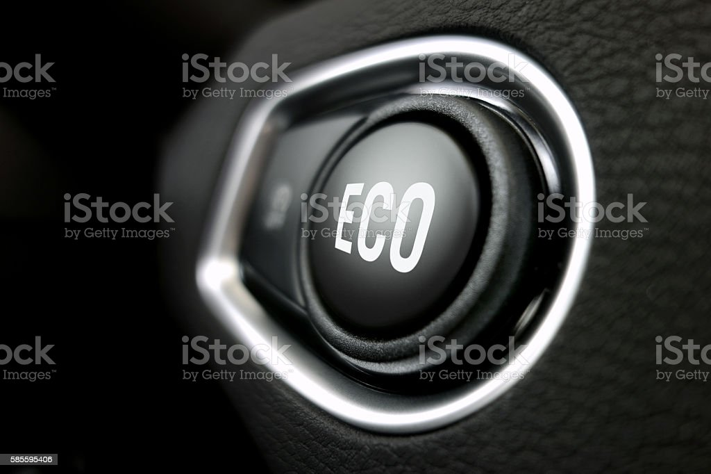 Eco button stock photo