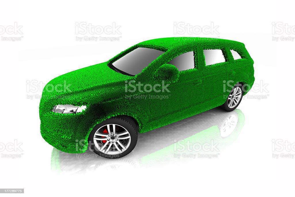 Eco car concept royalty-free stock photo