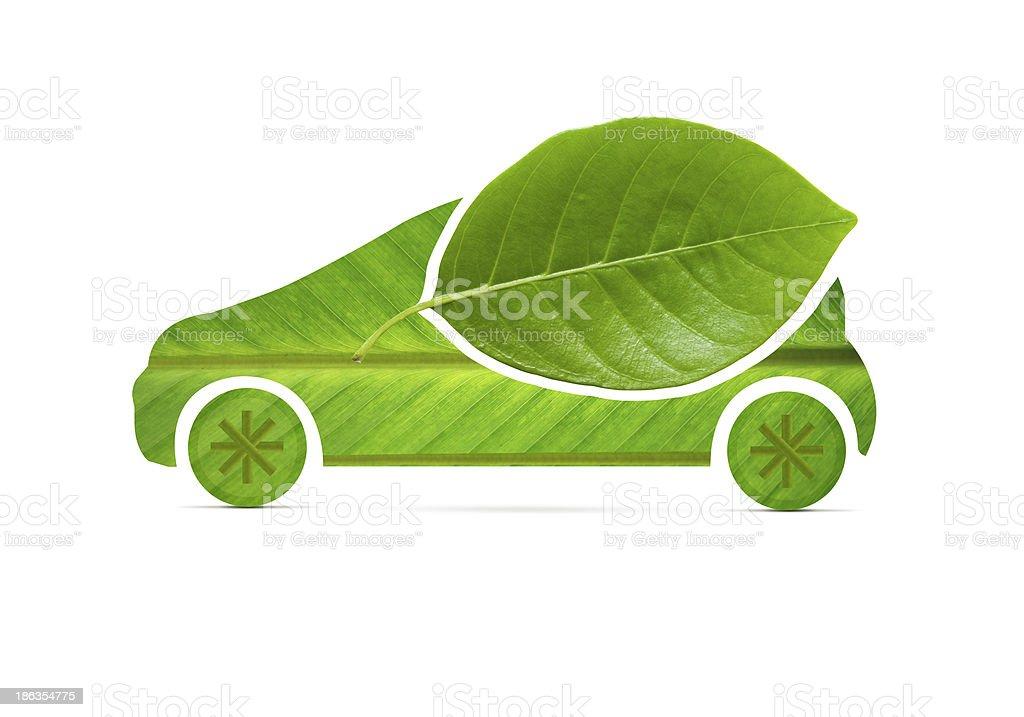 Eco Car on leaf I royalty-free stock photo