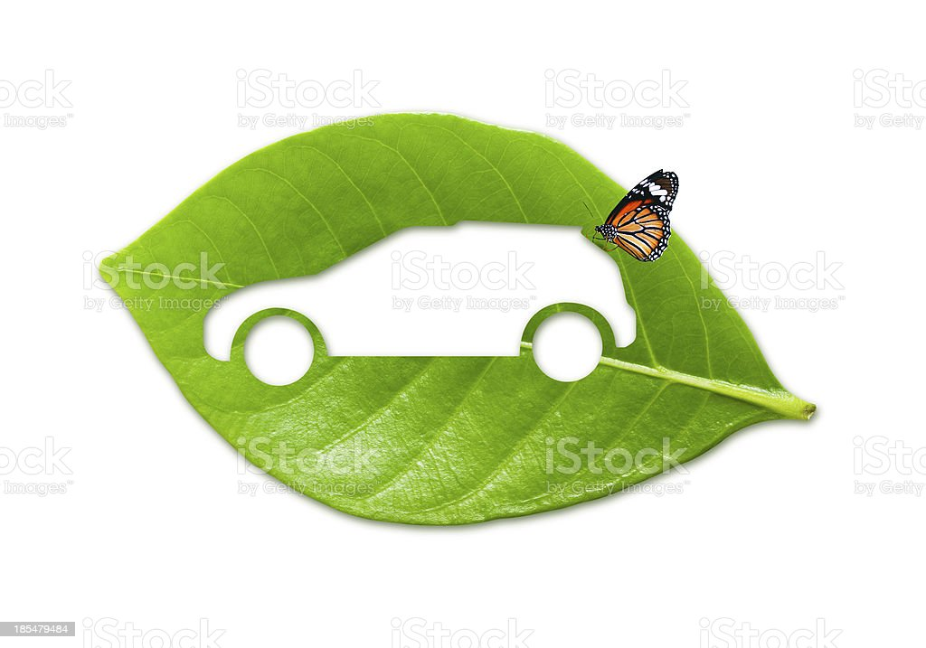 Eco car with natural wholesome royalty-free stock photo