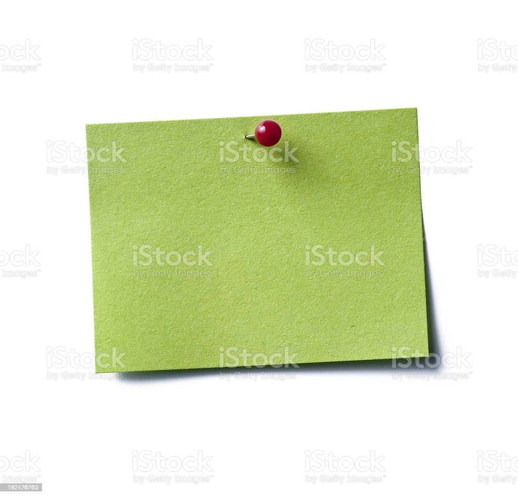 eco christmas post-it note royalty-free stock photo