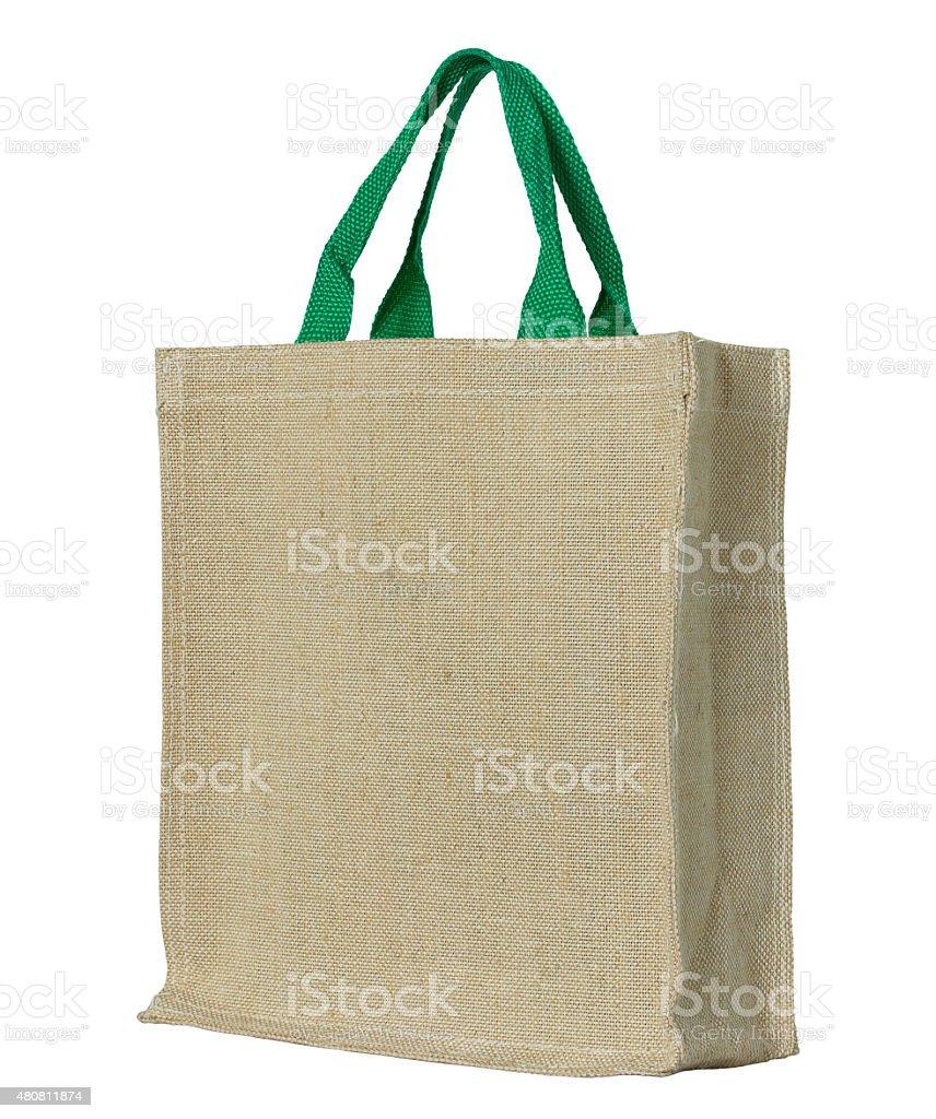 Eco cotton bag stock photo