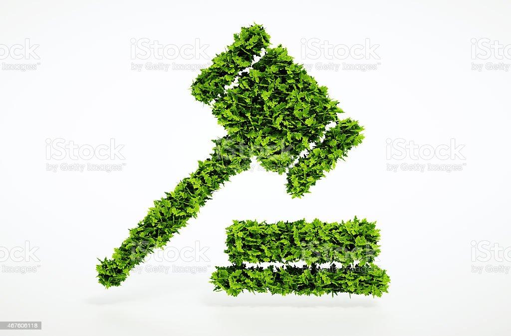 Eco court sign stock photo