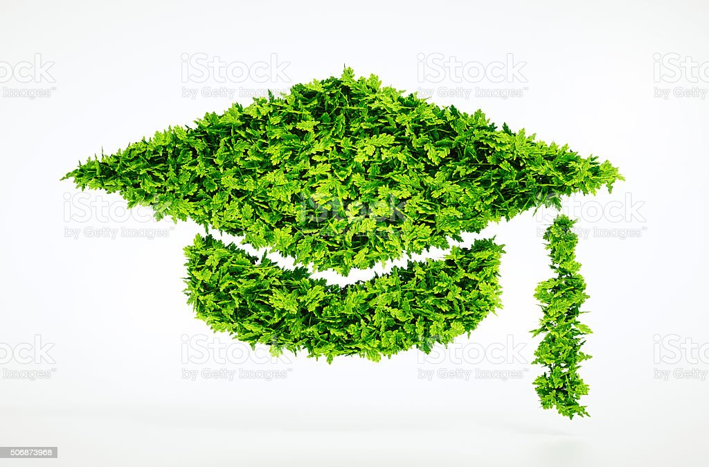 Eco education symbol stock photo