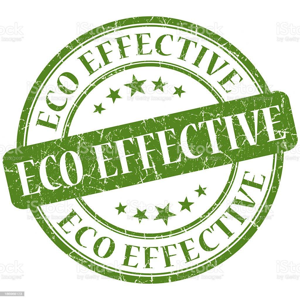 eco effective green stamp stock photo