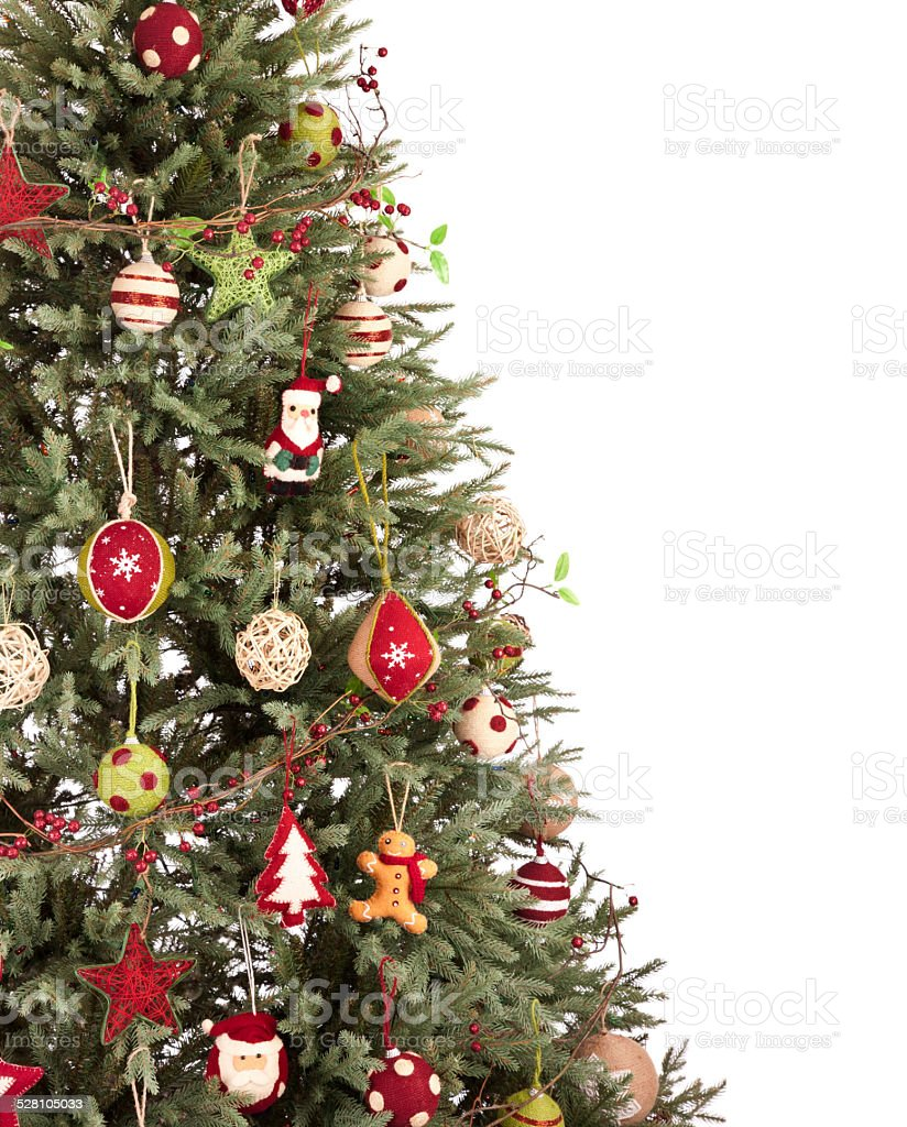 Eco enviornmentally friendly, holiday christmas tree isolated on stock photo